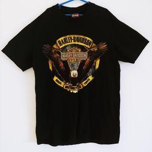 Harley Davidson Eagle Mens M Black T-Shirt M